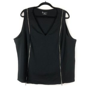 LANE BRYANT Sexy Edgy Black Sleeveless Top 26/28